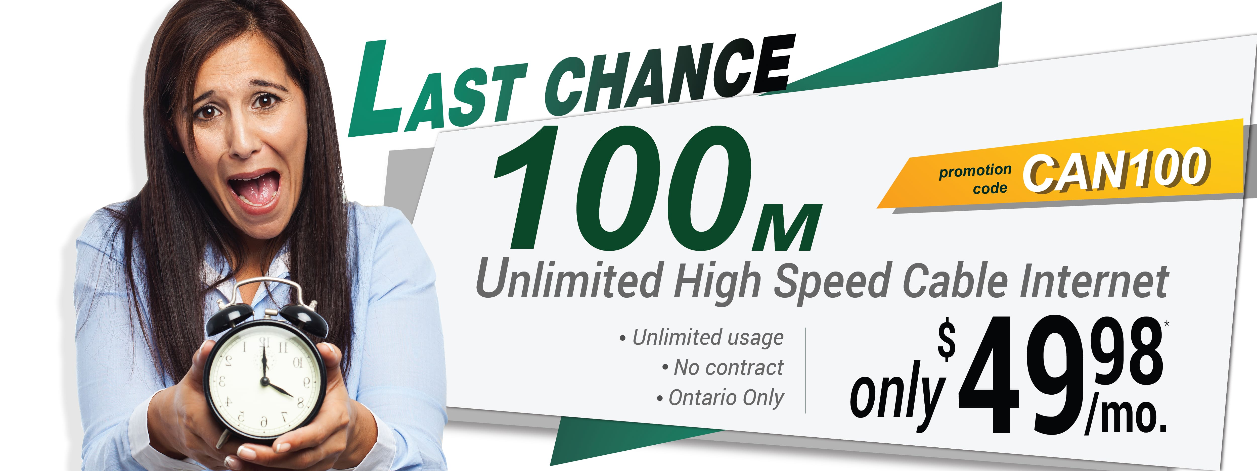 Last Chance to Save on High Speed Cable Internet Ontario (PROMOTION HAS ENDED)