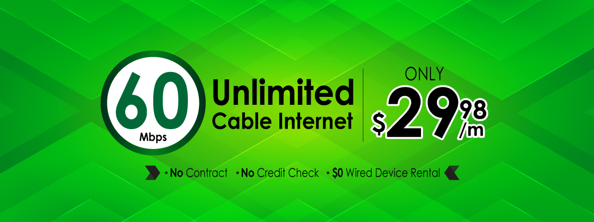 60Mbps Unlimited Cable internet for ONLY  $29.98 monthly for ON Cogeco area(PROMOTION HAS ENDED)