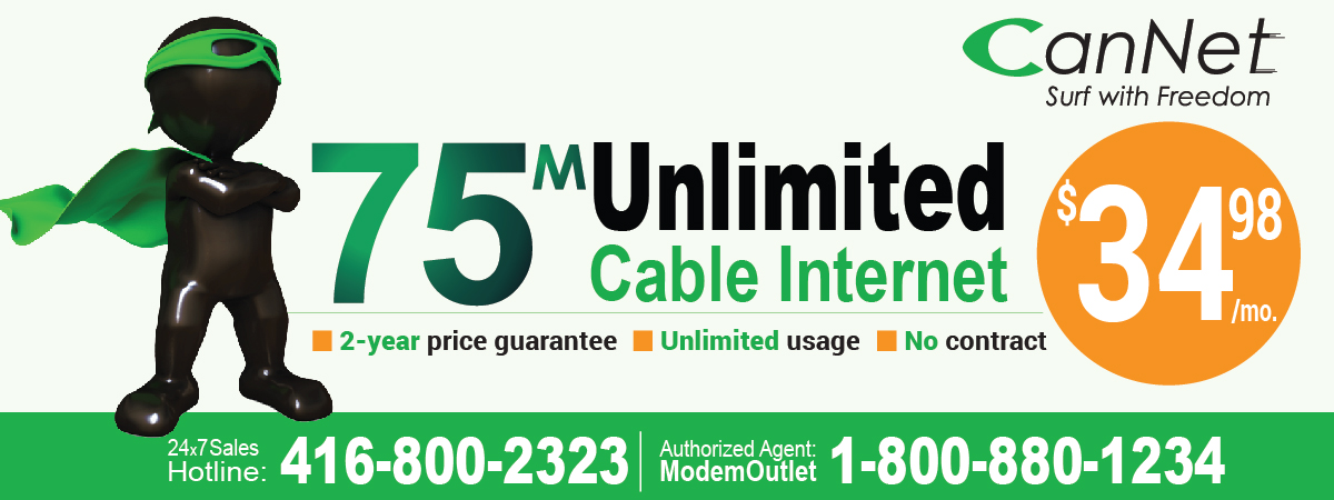 75/10M Unlimited Cable Internet Promotion! (PROMOTION HAS ENDED)