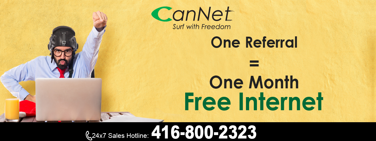 Refer a friend, get one month FREE internet